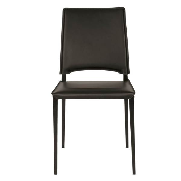 Franklin Black Faux Leather Dining Chairs (Set of 2)