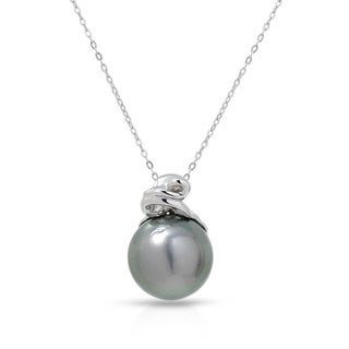 Fay Pay Jewels 14k White Gold Tahitian Pearl 18-inch Necklace