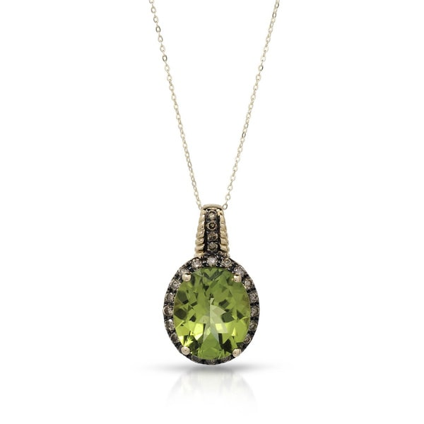 Fay Pay Jewels 14k Gold 5.10 CTW Peridot Necklace
