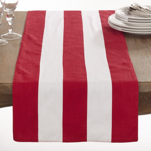 Saint John Collection Striped Design Cotton Table Runner