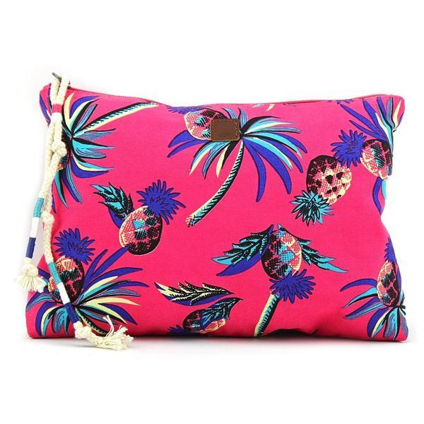 Roxy Women's Glistening Cosmetic Pink Synthetic Handbag