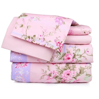 Pretty in Pink Floral Sheet Set