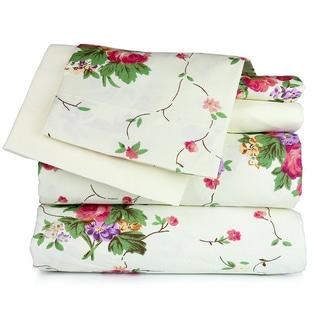 Ivory Floral Garden Sheet Set