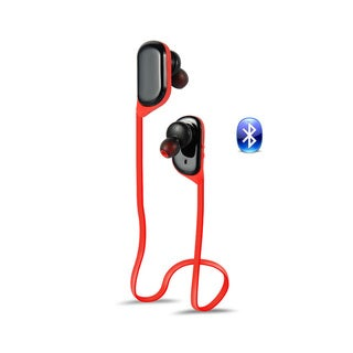 Universal Bluetooth Sports Black and Red Lightweight Noise-canceling Earbuds