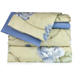 Blue Floral Sheet Set