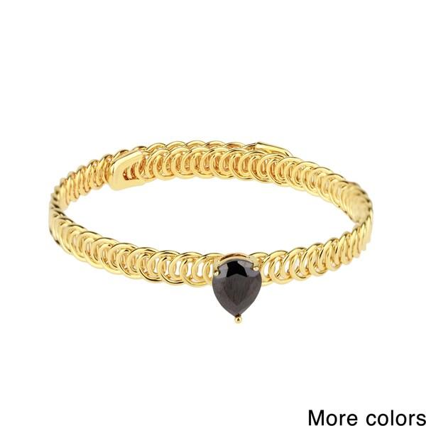 Saachi Teardrop Faux Stone Adjustable Bracelet (China)