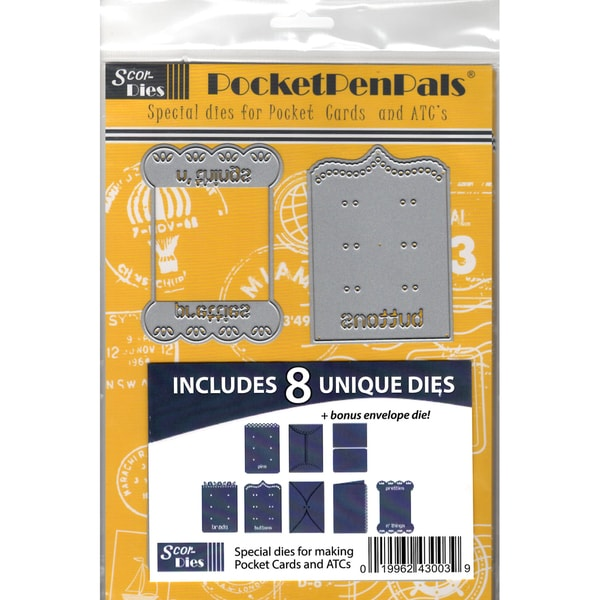 Scor-Pal PocketPenPals Die Bundle 9/Pkg Kits A, B & C, Plus A Bonus Die