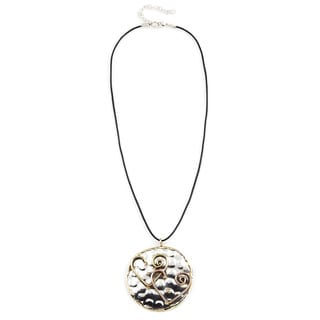 Handmade Artisan Tri-color Stainless Steel Mixed Metals Heart Necklace (India)