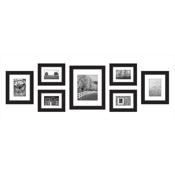 Gallery Perfect Black Wood 7-piece Gallery Wall Frame Kit