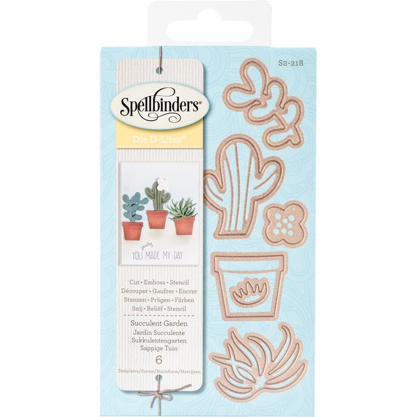 Spellbinders Shapeabilities Die D-Lites Succulent Garden
