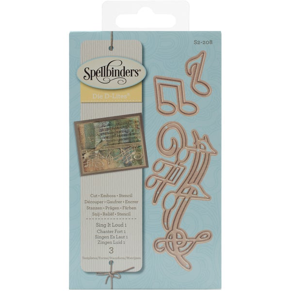 Spellbinders Shapeabilities Die D-Lites Sing It Loud 1