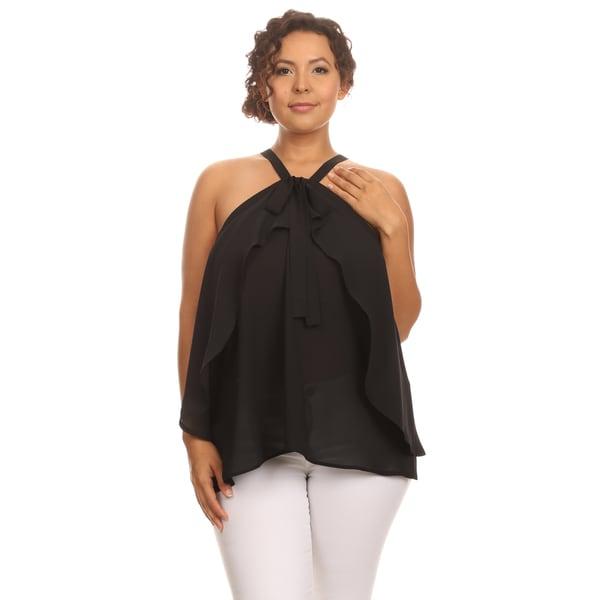 Hadari Plus Size Sleeveless halter top