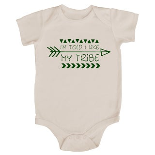 "Rocket Bug ""I'm Told I Like My Tribe"" Baby Bodysuit"