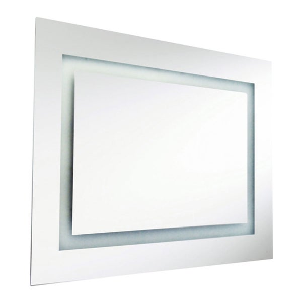 Dainolite 66-watt Rectangular Illuminated Interior Mirror