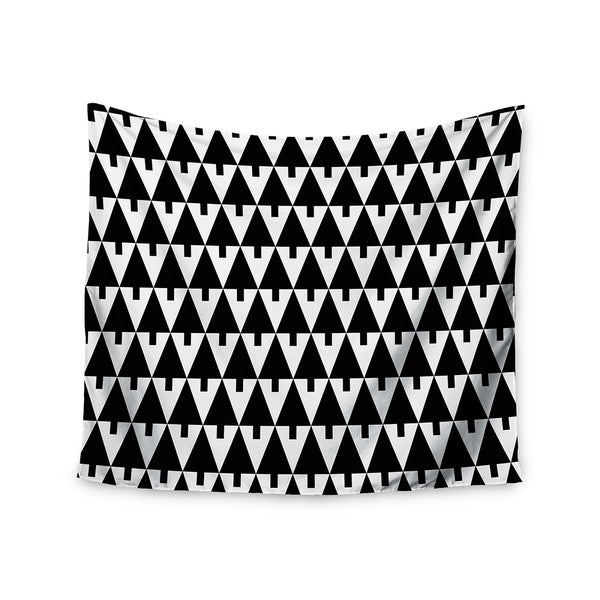 Kess InHouse Gabriela Fuente 'Happy X-Mas Black & White' 51x60-inch Wall Tapestry