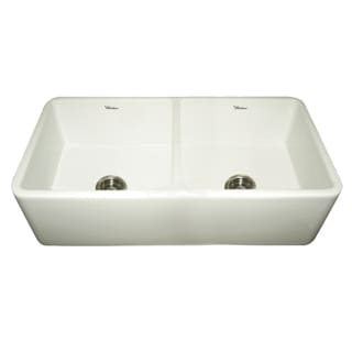 Duet Fireclay Reversible Double-bowl Sink With Smooth Front Apron