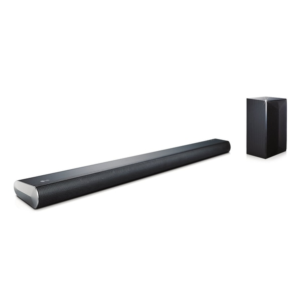 LG LASC55 Refurbished 320-watt 2.1-channel Bluetooth Black Sound Bar with Wireless Subwoofer