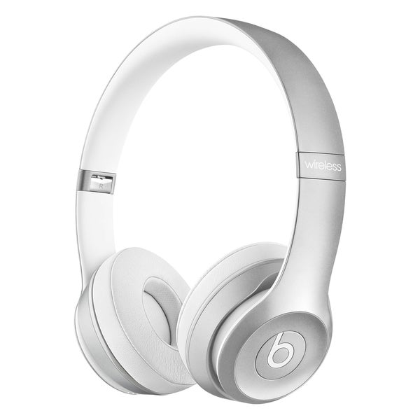 Beats by Dre Solo 2 Refurbished Silver Wireless Headphones