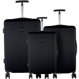 Murano Black 3-piece Lightweight Hardside Spinner Luggage Set