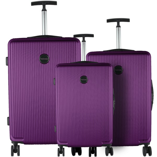 Murano Purple 3-piece Lightweight Hardside Spinner Luggage Set