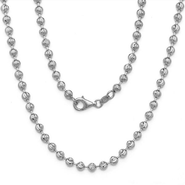 Decadence 14k White Gold Moon-cut Chain