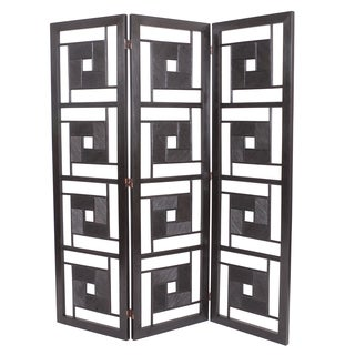 Lapu Lapu Ebony Black Stain Rattan Screen