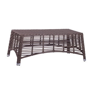Tuscany Brown PVC Wicker/Aluminum Coffee Table