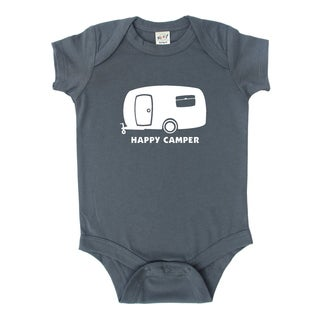 "Rocket Bug ""Happy Camper"" Baby Bodysuit"