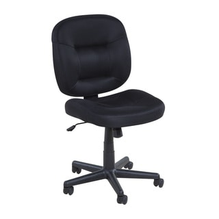 Comfort Products OneSpace 60-2382 Black Mesh Nylon Base Low-back Task Chair