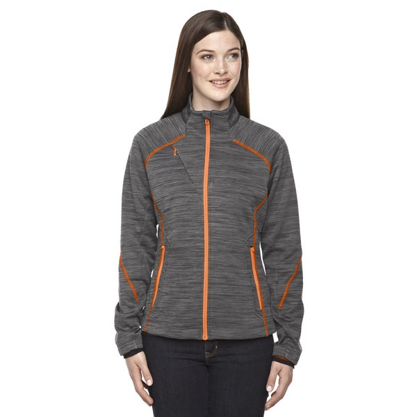 Flux Melange Women's 482 Carbon/Soda Polyester Bonded Fleece Jacket 19488636