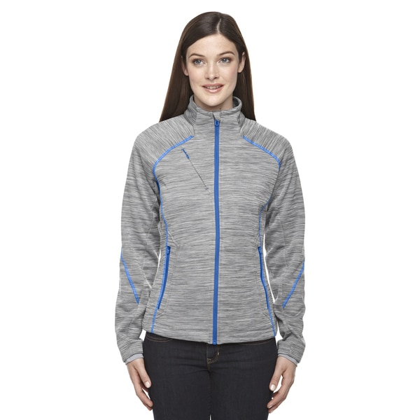 Flux Melange Women's Grey Polyester Bonded Fleece Jacket