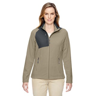 Excursion Women's 019 Stone Black/Green Polyester Trail Fabric-block Fleece Jacket
