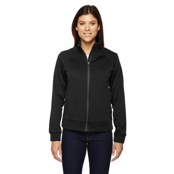 Evoke Women's 703 Black Polyester Bonded Fleece Jacket