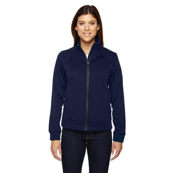 Evoke Women's Night Blue Bonded Fleece Jacket