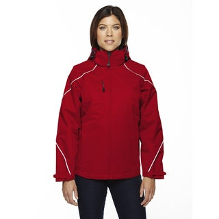 Angle Women's Classic Red Three-in-one Jacket With Bonded Fleece Liner