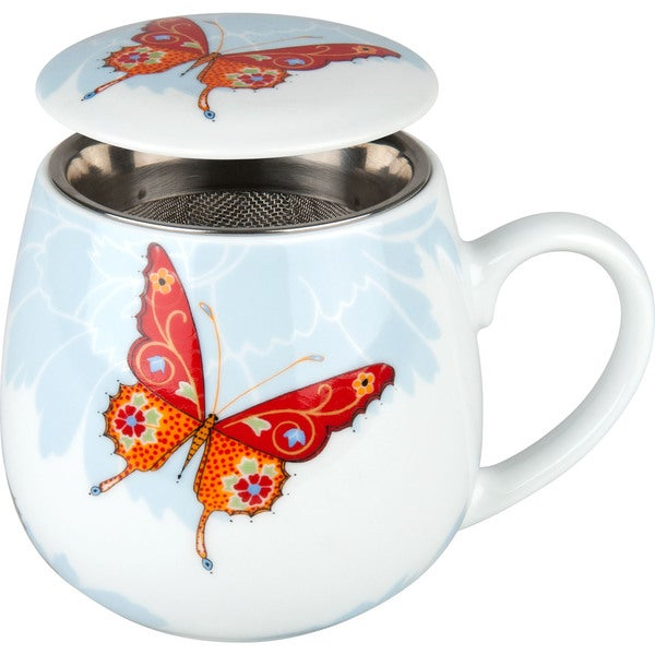 Waechtersbach Tea for One Bijou Butterfly 3-piece Tea Mug