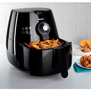 Philips HD9220/26X Black Plastic/Stainless Steel Refurbished Air Fryer with Rapid Air Technology