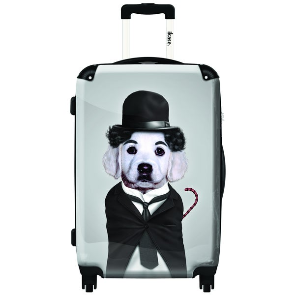 iKase Tramp Artwork Multicolor Polycarbonate/Microfiber/Aluminum/Nylon/Mesh 20-inch Fashion Hardside Spinner Upright Suitcase