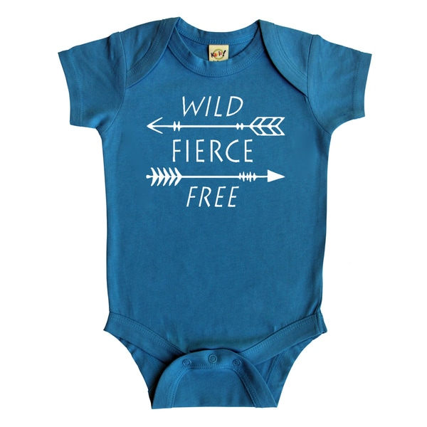 "Rocket Bug ""Wild, Fierce, Free"" Arrows Baby Bodysuit"