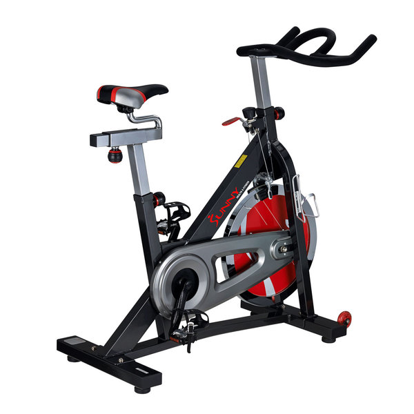 Sunny Health Fitness Black Indoor Cycling Bike