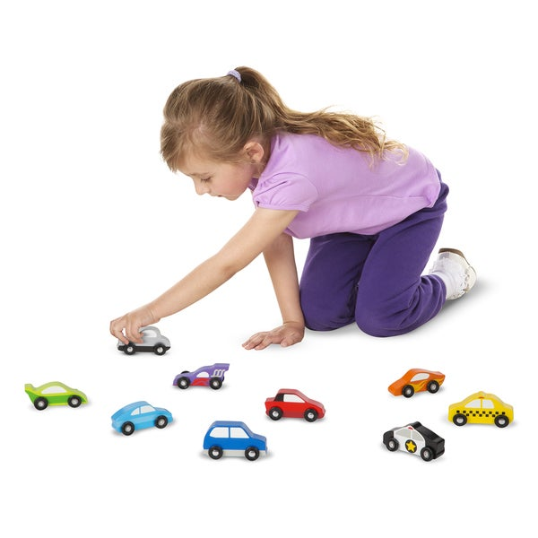 Melissa & Doug Wooden Car Set
