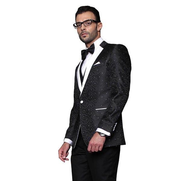 Bellagio Statement Black Wool Tuxedo