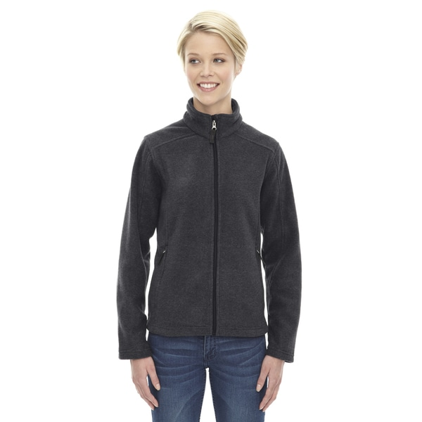 Journey Women's Heathered Charcoal Grey Fleece Jacket 19489682