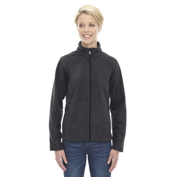 Journey Women's Heathered Charcoal Grey Fleece Jacket 19489681