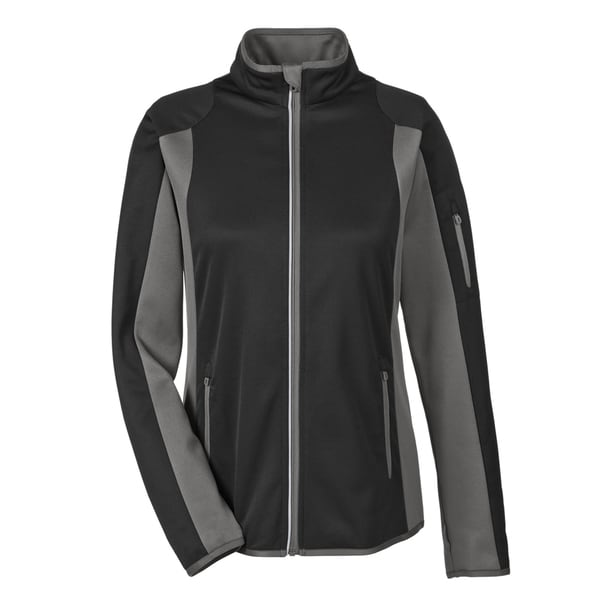 Motion Women's Black/Dark Graphite Interactive Colorblock Performance Fleece Jacket