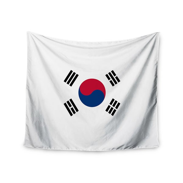 Kess InHouse Bruce Stanfield 'Flag of Korea' White Digital 51x60-inch Wall Tapestry