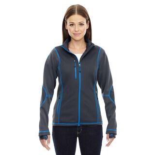 Pulse Women's Grey Polyester Fleece Jacket