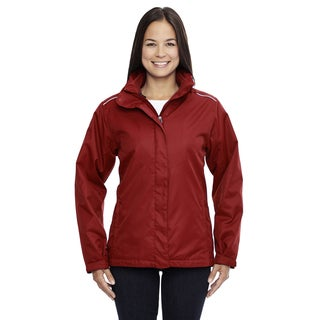 Region Women's 850 Classic Red Polyester 3-in-1 Jacket with Fleece Liner