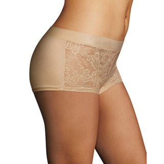 Maidenform Women's Luxe Latte Nylon/Spandex/Cotton Smooth Lift Boyshort