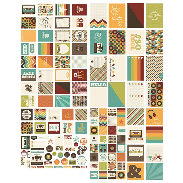 Sn@p! Double-Sided Cards & Bits/Pieces Die-Cuts Pack 138pcs Epic